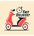 Fast and free delivery cartoon vector image vector image
