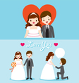 Fat Bride And Groom In Wedding Clothing Set vector image vector image