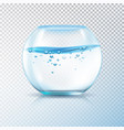 fish bowl water bubbles transparent vector image vector image