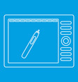 graphics tablet icon outline style vector image vector image