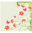 Grunge floral corner vector image