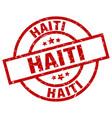 haiti red round grunge stamp vector image vector image