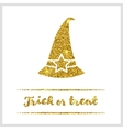 Halloween gold textured hat icon vector image vector image