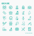 health care thin line icons set vector image vector image