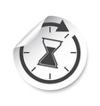 hourglass sticker label time vector image vector image