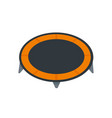 house trampoline icon flat style vector image vector image