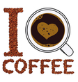 I like coffee isolated objects vector image