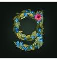 letter Flower alphabet Colorful font vector image vector image
