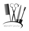 manicure and beauty salon symbol vector image vector image
