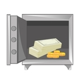 Money in iron safe vector image