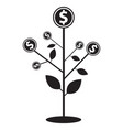 money tree icon flat graphic design vector image vector image