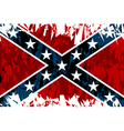 national flag confederate states america vector image vector image