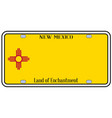 new mexico state license plate vector image vector image