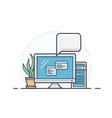 office computer icon vector image vector image