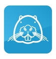 Otter beaver icon Animal head vector image vector image