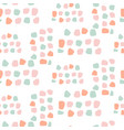 pastel color dots abstract seamless pattern vector image vector image