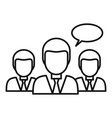 people classroom icon outline style vector image vector image