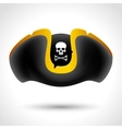 Pirate hat with skull and crossed bones vector image vector image