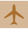Plane Flat modern web button and space for your vector image vector image