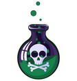 poison jar vector image