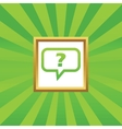 Question picture icon vector image