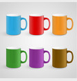 realistic mugs vector image