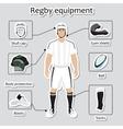 regplayer uniform and equipment vector image