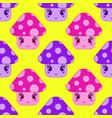 seamless pattern of cartoon mushrooms of vector image