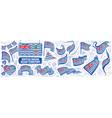 set national flag british indian vector image