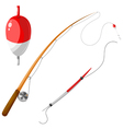 Set of gear for fishing eps10 vector image vector image