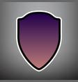 shield sign violet gradient vector image vector image