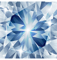 Silver and blue with concept diamond vector image