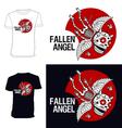 Skeletons T shirt Fallen angel vector image