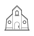 sketch silhouette image church building vector image vector image