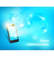 Smart phone sending out message vector image