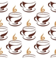 Steaming cup of coffee seamless pattern vector image vector image