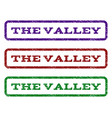 the valley watermark stamp vector image vector image