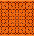 tile pattern with big black polka dots on orange vector image vector image