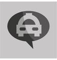 traffic sign concept icon car taxi vector image