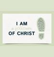 typography slogan i am a follower christ vector image