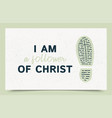 typography slogan i am a follower christ with vector image
