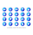 universal leisure web and mobile icons vector image vector image