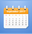 usa calendar for september 2017 vector image vector image