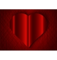 Valentine Day heart red texture background vector image