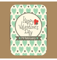 valentines greeting or party invit card vector image vector image