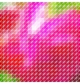 abstract geometric red pink triangle grid vector image