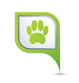 animal footstep GREEN pointer vector image vector image