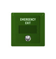 appliance emergency exit vector image vector image