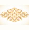 arabesque vintage gold decor ornate pattern for vector image vector image