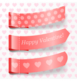 Attach valentine ribbons vector image vector image